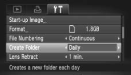 Configuring your camera to create a new folder daily is a good practice