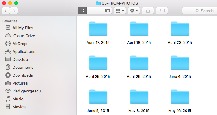 How to export pictures from Photos