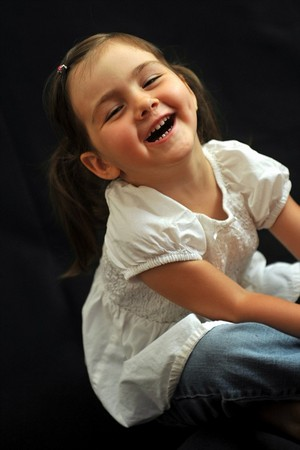 Great picture of little girl laughing.